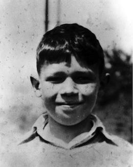 photo - Portrait of Dave Barrett as a boy, circa 1940