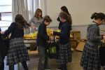 photo - On Feb. 20, students at Vancouver Hebrew Academy packaged more than 200 mishloach manot bags full of non-perishable food items donated by the Marine Drive and Grandview Superstore locations