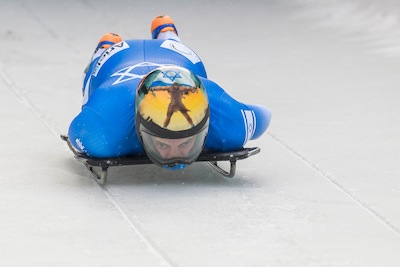 photo - A.J. Edelman was Israel's only skeleton athlete to make it to the 2018 Winter Olympics in PyeongChang, South Korea