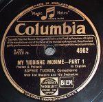 """photo - """"My Yiddishe Momme"""" record"""