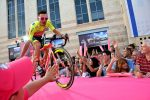 photo - Cyclists met some of the audience in Safra Square during the opening ceremony May 4