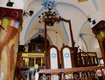 photo - The bimah of Ari Ashkenazi Synagogue in Tzfat (Safed) was part of the Land and the Spirit tour, which is organized by the Rohr Jewish Learning Institute