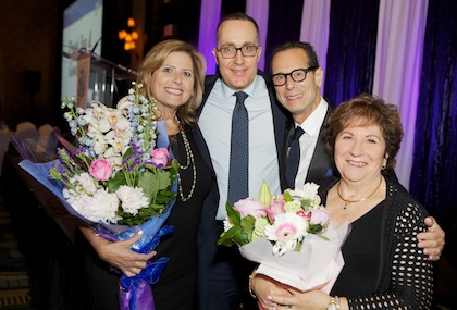 photo - Bernice Carmeli, dinner co-chair, with Ilan Pilo, David Goldman and Ilene-Jo Bellas