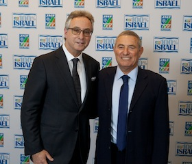 photo - Keynote speaker Maj. Gen. (Res.) Doron Almog, founder of ALEH, right, with local businessman and philanthropist Gary Segal