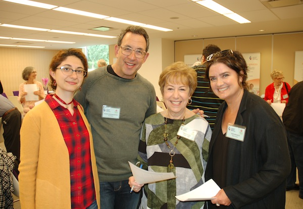 photo - Left to right are Mariam Harutyunyan, Dr. Mark Rosengarten, Linda Glick and Kim Branch. Harutyunyan and Branch are Better at Home volunteers. Rosengarten and Glick are JFS volunteers