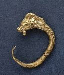 photo - A Hellenistic-era golden earring, discovered in the Givati Parking Lot in the City of David National Park