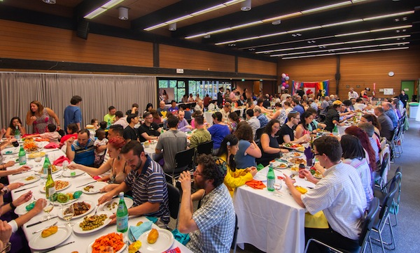 photo - The July 27 Shabbat Dinner with Pride Colours was a sold-out event