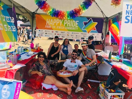 photo - The festivities continued on Aug. 5, when the Jewish community hosted its annual booth on Sunset Beach during the Pride Parade and Festival