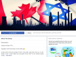 "screenshot - A large number of groups of Israelis in Canada activity on Facebook. The main group is ""Israelis in Canada"""