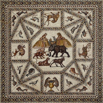 photo - The newly discovered Lod mosaic.