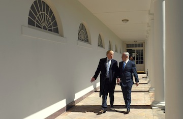 photo - U.S. President Donald Trump and Prime Minister Binyamin Netanyahu at the White House in January 2018