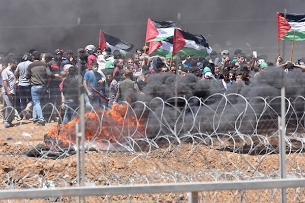 photo - Violence along the Gaza border