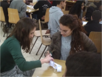 photo - The Pathways program pairs Arab and Jewish high schools for two-day experiential workshops about interest-based negotiation skills