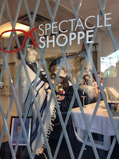 photo - The Spectacle Shoppe's display window, side view
