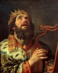 """photo - """"King David Playing the Harp,"""" by Gerard van Honthorst, 1622. All of the biblical heroes are imperfect, as are we"""