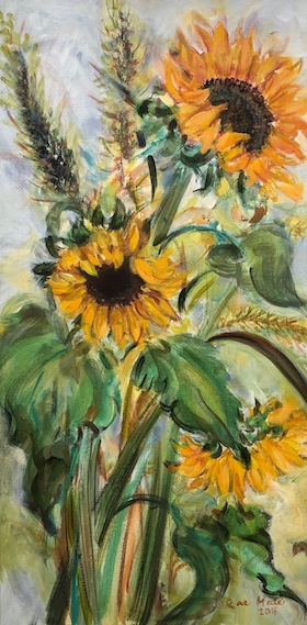 "photo - One of the pieces she has donated is ""Sunflowers"""