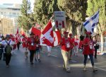 photo - A Canadian delegation was among some 6,000 participants in the International Christian Embassy's annual Sukkot march through the centre of Jerusalem last week