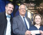 photo - Left to right: The Bayit president Michael Sachs, Richmond Mayor Malcolm Brodie and Marc's Mensches winner Taya Benson