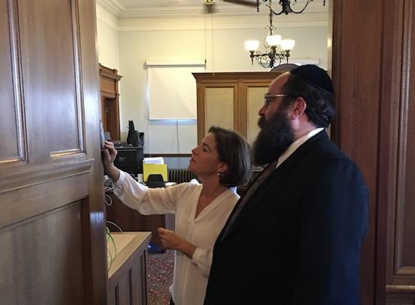 Mezuzah at legislature