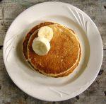 Hot pancakes for breakfast