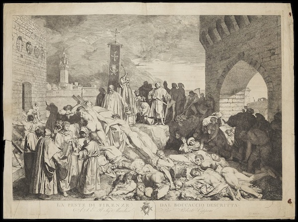 "photo - Giovanni Boccaccio's ""The plague of Florence in 1348"""