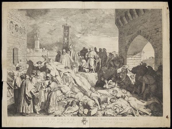 "photo - Giovanni Boccaccio's ""The plague of Florence in 1348"""