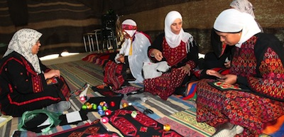 photo - With the help of the Desert Embroidery, Bedouin women in the Negev create the art in their homes, and use the money they earn to support their families
