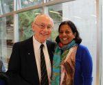 photo - Robbie Waisman and Dr. Uma Kumar spoke Jan. 24 at UBC's Hillel House