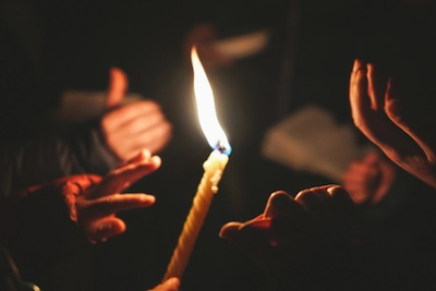 photo - BaMidbar's program is rooted in Jewish ritual. Here the BaMidbar community celebrates Havdalah