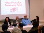 photo - Left to right are panelists at a recent National Council of Jewish Women panel on organ transplants: Dr. Aviva Goldberg, Rabbi Yossi Benarroch, Marshall Miller and Na'ama Miller