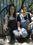photo - Makeda Zook, left, and Sadie Epstein-Fine, editors of Spawning Generations