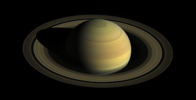 photo - Saturn's northern hemisphere in 2016, as that part of the planet nears its northern hemisphere summer solstice in May 2017. Since NASA's Cassini spacecraft arrived at Saturn in mid-2004, the shifting angle of sunlight as the seasons march forward has illuminated the giant hexagon-shaped jet stream around the north polar region, and the subtle bluish hues seen earlier in the mission have continued to fade