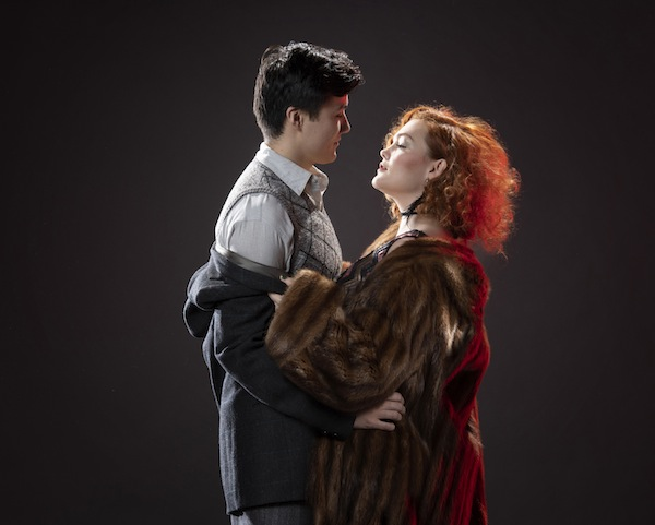 photo - Dylan Floyde as Cliff Bradshaw and Erin Palm as Sally Bowles in Cabaret, presented by Studio 58