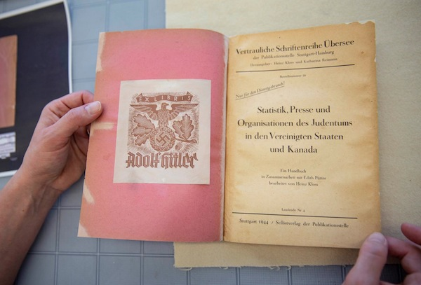 photo - Library and Archives Canada recently acquired this 1944 book previously owned by Adolf Hitler