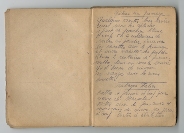 photo - Rebecca Teitelbaum's recipe book was compiled in Ravensbrück concentration camp, Germany, circa 1940s