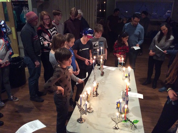 photo - Members of the Okanagan Jewish Community came together to celebrate Chanukah
