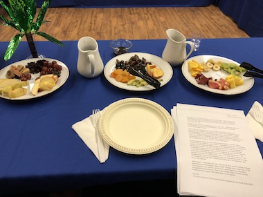 photo - The Tu b'Shevat seder on Jan. 20 was attended by 30 members