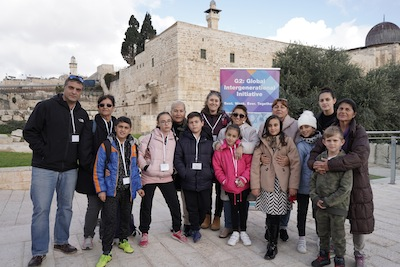 photo - grandparents and grandchildren in Israel on a G2 trip