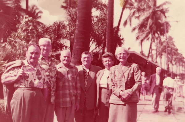 photo - Dave and Rose Nemetz with an unidentified group, undated