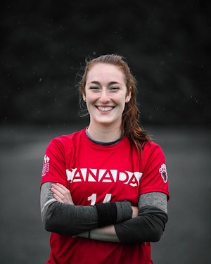 photo - Sarah Jacobsohn is the Ultimate Canada 2018 Junior Female Athlete of the Year