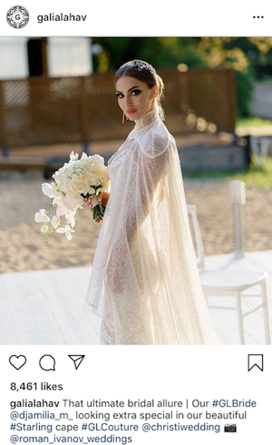 screenshot - Galia Lahav Instagram post