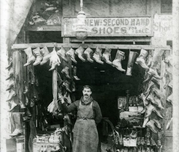 photo - Nessim Menashe, born on the Isle of Rhodes in 1887, came to Portland in 1909. By 1914, he had established a shoe repair shop in northwest Portland, which he operated until 1921