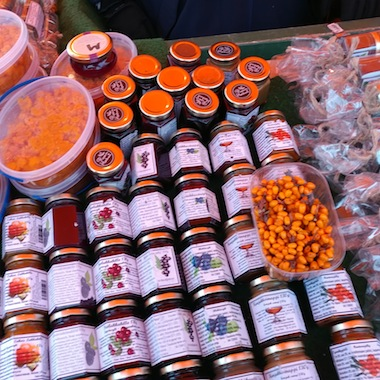 photo - Preserves and juices in the market in Helsinki