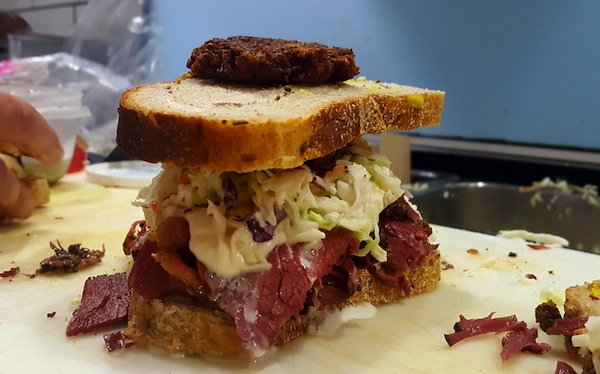 photo - The Hungry Jew, one of the signature sandwiches at Buzzy's Luncheonette