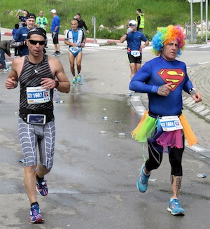 photo - runners in Jerusalem Marathon