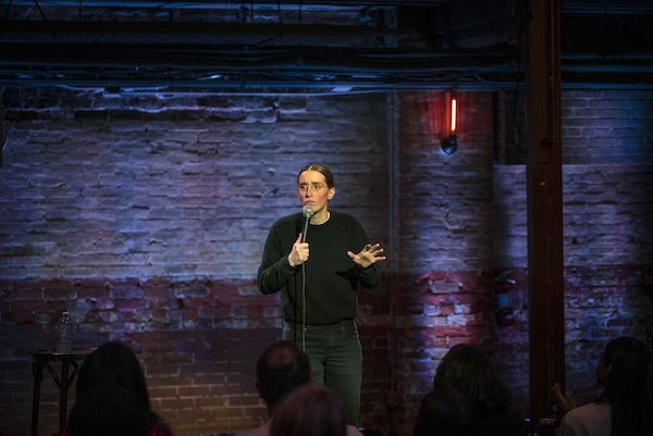 photo - Comedian Robby Hoffman in action