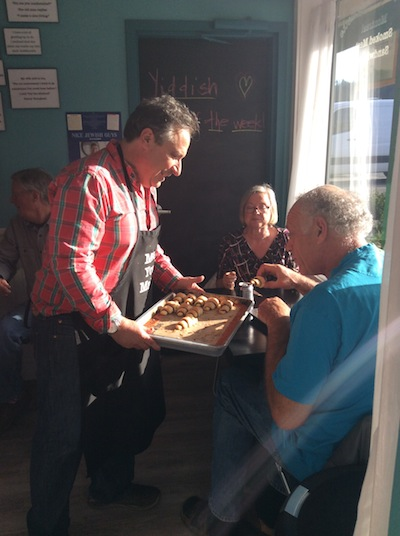 photo - Howard Busgang serves customers rugelach on a sunny November afternoon