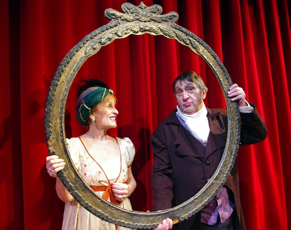 photo - Judy McLellan as Lady Russell and Roger Monk as Sir Walter Elliot in Metro Theatre's production of Persuasion