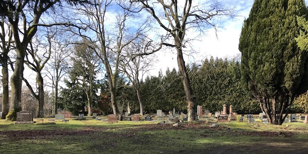 Historic cemetery full of life