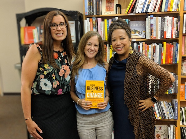 photo - Elisa Birnbaum, centre, with Laura Zumdahl of Bright Endeavors, left, and Maria Kim of Cara Chicago